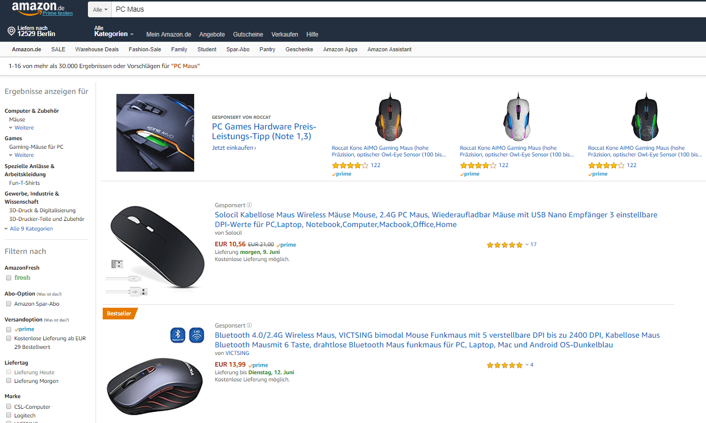 Amazon Headline Search Ad