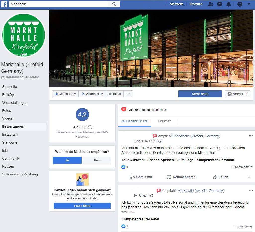 Facebook Empfehlungen