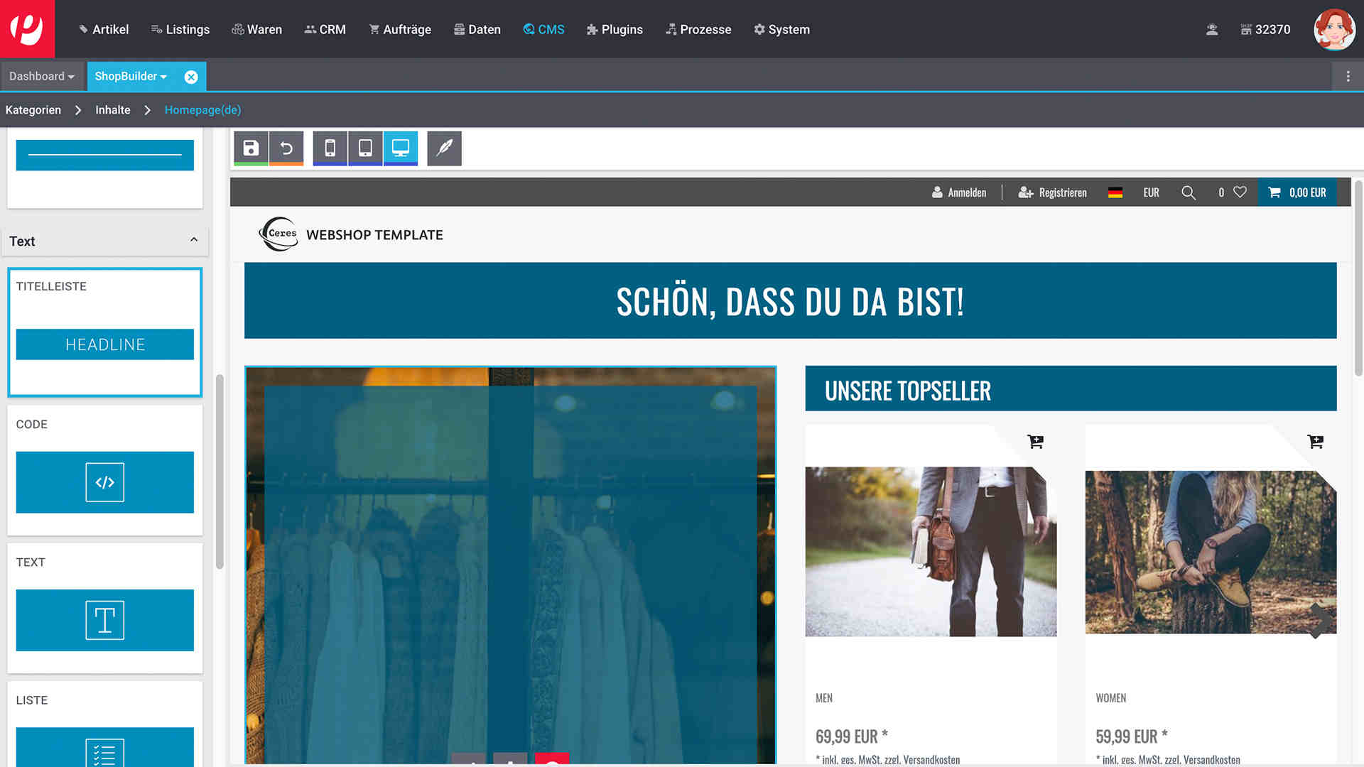Shopbuilder plentymarkets