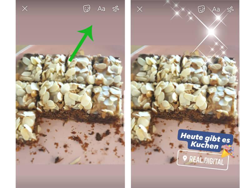 Facebook Story Bildbearbeitung