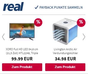 Dynamische Produktanzeigen real.de