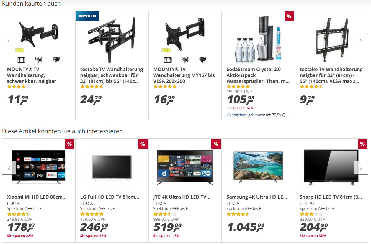 Cross-Selling auf der Cart-Thank You-Page