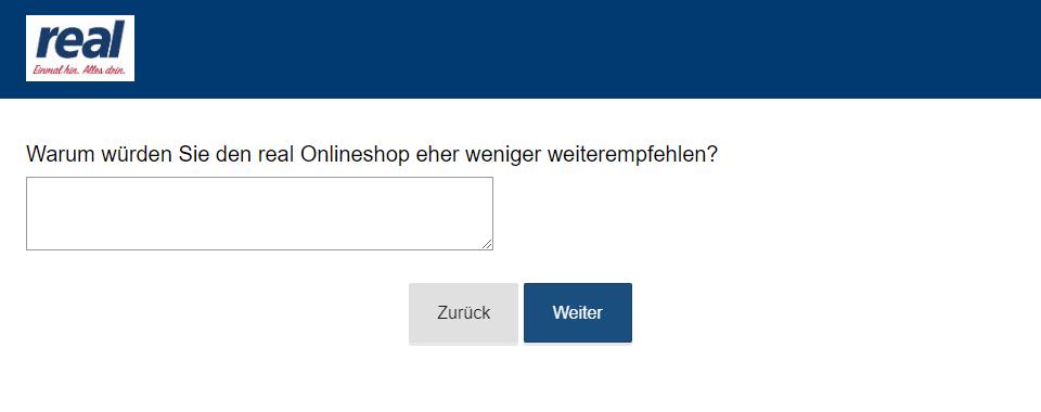 Freitextfeld Umfrage