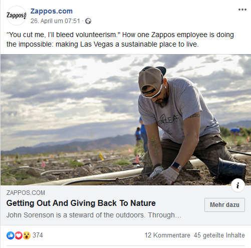 Zappos Mitarbeiterzufriedenheit